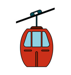 cable car transport image vector image vector image