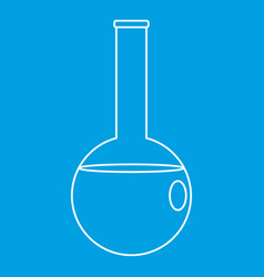 Chemical beaker icon outline style vector