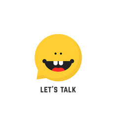 Childish speech therapist logo vector
