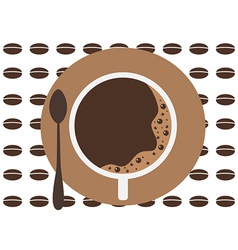 coffee cup background vector image vector image