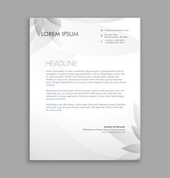 Creative flower letterhead template vector