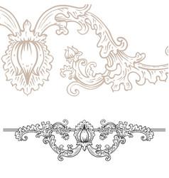 detailed art-nouveau decorative divider as vector image vector image