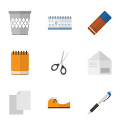 Flat icon tool set of rubber clippers sheets and vector