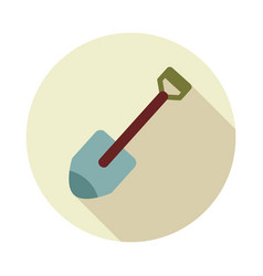 Gardening shovel flat icon vector