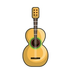 guitar instrument musical vector image vector image
