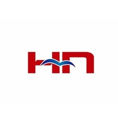 HN Logo Graphic Branding Letter Element vector image vector image