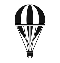 Hot air striped balloon icon simple style vector