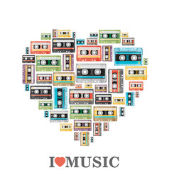 i love music flat vector image