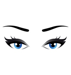 Isolated blue woman eyes vector