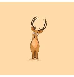 Isolated emoji character cartoon deer vector