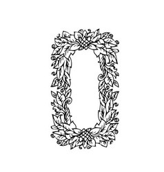 letters floral o vector image vector image