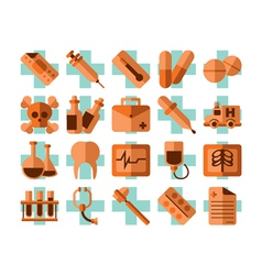 Medical and healt icons set vector