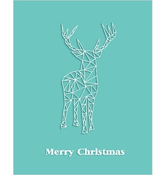 Merry Christmas geometric abstract reindeer vector image vector image