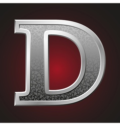 Metal letters d vector image