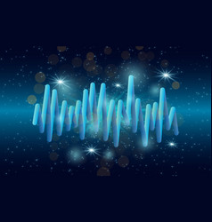 music waves background 3d sound music equalizer vector image vector image