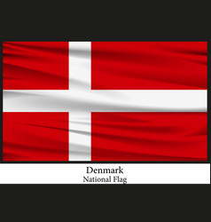 National flag of denmark vector