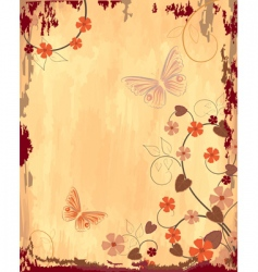 old grunge paper with patterns vector image vector image