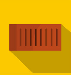Orange brick icon flat style vector