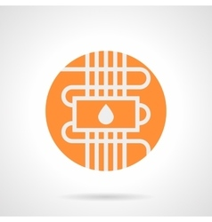 Orange water warm floor round icon vector image