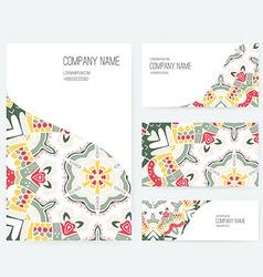 Ornamental Business Set Dedign vector image