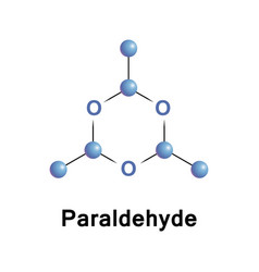 paraldehyde is the cyclic trimer vector image vector image