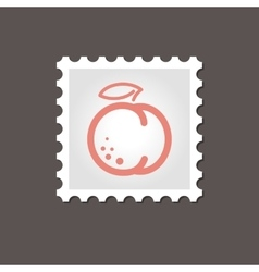 Peach stamp outline vector