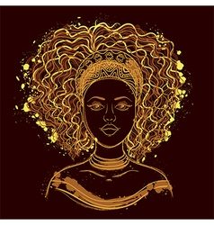 portrait of african woman vector image