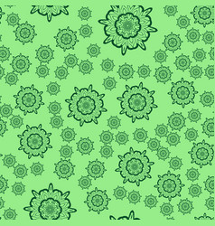 Seamless light green flower mandala for print on vector