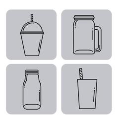 Smoothie juice design vector