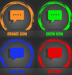 Speech bubbles icon Fashionable modern style In vector image vector image