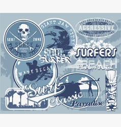 surf hawaii wave vector image vector image