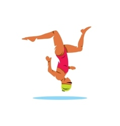 Synchronized swimming cartoon vector