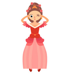 the fairytale princess in red dress vector image