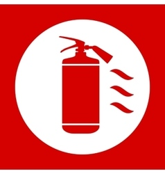 Flat fire extinguisher icon with place for vector