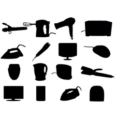 Home appliance silhouettes vector