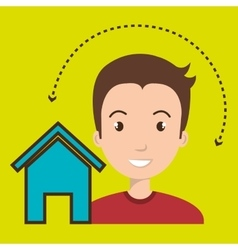 Man home page web vector