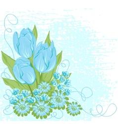 Design card of tulips Flower background vector image