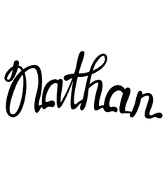 Nathan name lettering vector image