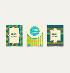 Template ethnic creative cards vector
