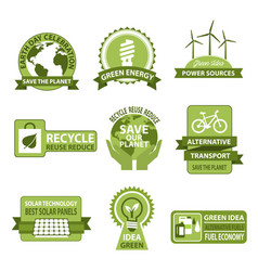 icons for earth day and save planet nature vector image