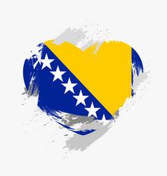 Flag of bosnia and herzegovina vector