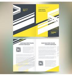 booklet catalog brochure folder line abstract vector image