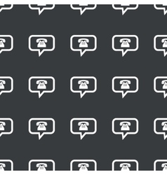 Straight black phone message pattern vector
