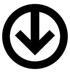 Direction down flat icon vector