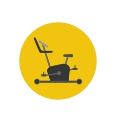Exercise bike icon vector