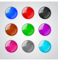 Color pin magnet set vector image