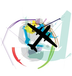 Abstract Airplane vector image
