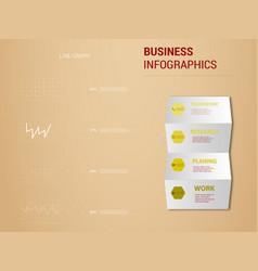 abstract paper infografics eps10 vector image vector image