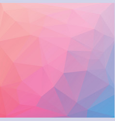 abstract triangle background in pink-blue tones vector image