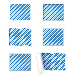 Bavaria flag set vector image